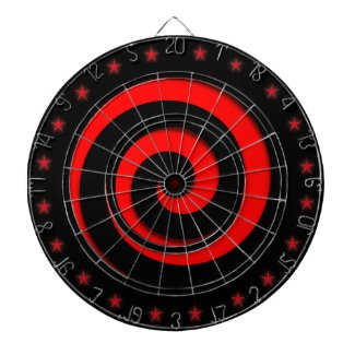 Spiral Hypnotic Red Wheel Regulation Dart Board