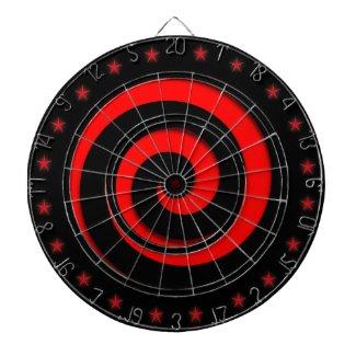 Spiral Hypnotic Red Wheel Regulation Dart Board