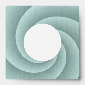 Spiral in Aqua Brushed Metal Texture Print Envelope