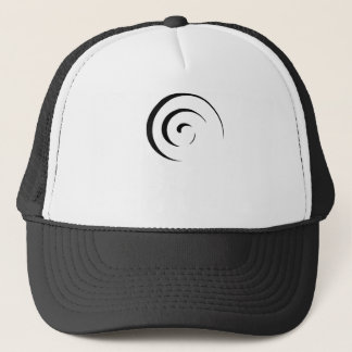 Spiral in Black Trucker Hat