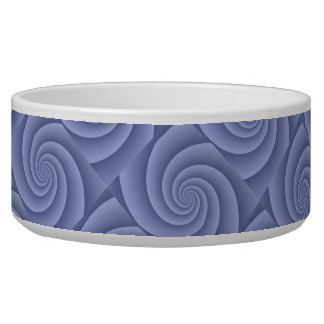 Spiral in Blue Brushed Metal Texture Print Bowl