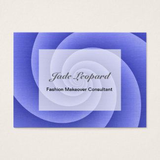 Spiral in Blue Brushed Metal Texture Print Business Card