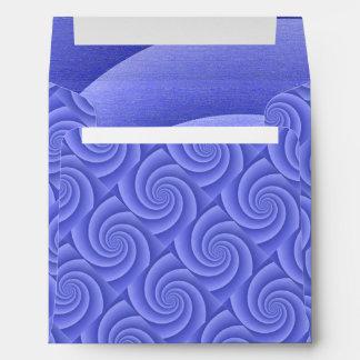 Spiral in Blue Brushed Metal Texture Print Envelope