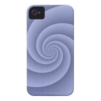 Spiral in Blue Brushed Metal Texture Print iPhone 4 Case-Mate Case