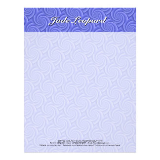 Spiral in Blue Brushed Metal Texture Print Letterhead