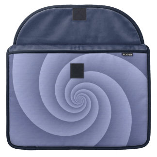 Spiral in Blue Brushed Metal Texture Print Sleeve For MacBook Pro