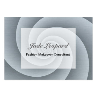 Spiral in brushed metal texture large business cards (Pack of 100)