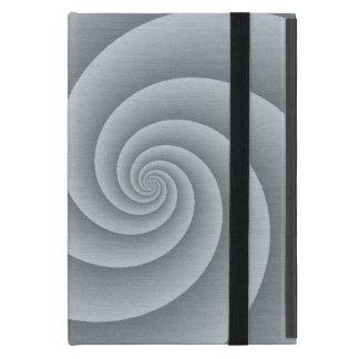 Spiral in brushed metal texture iPad mini case