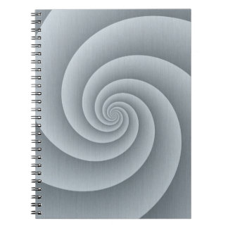 Spiral in brushed metal texture spiral note books