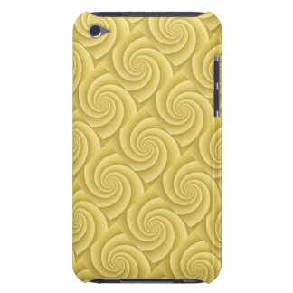 Spiral in Gold Brushed Metal Texture Print Barely There iPod Case