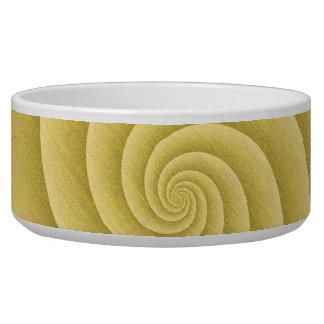 Spiral in Gold Brushed Metal Texture Print Bowl