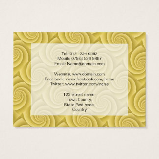 Spiral in Gold Brushed Metal Texture Print Business Card