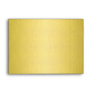 Spiral in Gold Brushed Metal Texture Print Envelope