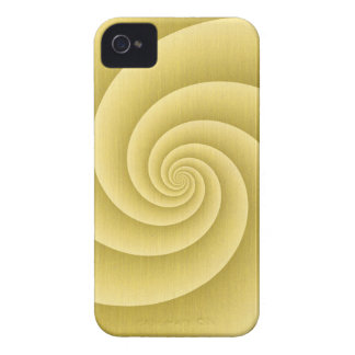 Spiral in Gold Brushed Metal Texture Print iPhone 4 Cover