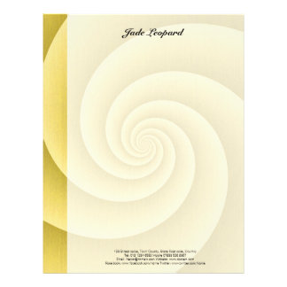 Spiral in Gold Brushed Metal Texture Print Letterhead