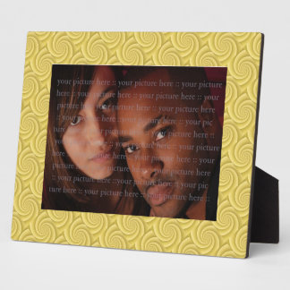 Spiral in Gold Brushed Metal Texture Print Plaque