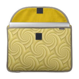 Spiral in Gold Brushed Metal Texture Print Sleeve For MacBooks