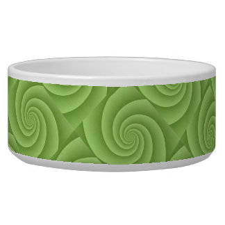 Spiral in Green Brushed Metal Texture Print Bowl