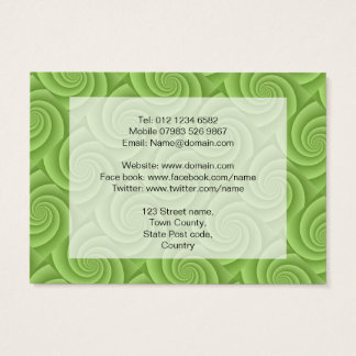 Spiral in Green Brushed Metal Texture Print Business Card