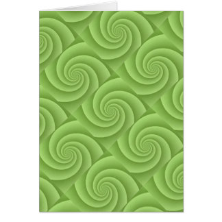 Spiral in Green Brushed Metal Texture Print Card