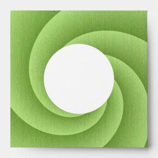 Spiral in Green Brushed Metal Texture Print Envelope