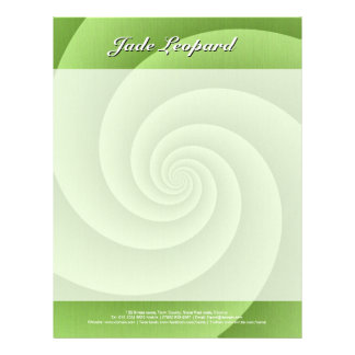 Spiral in Green Brushed Metal Texture Print Letterhead