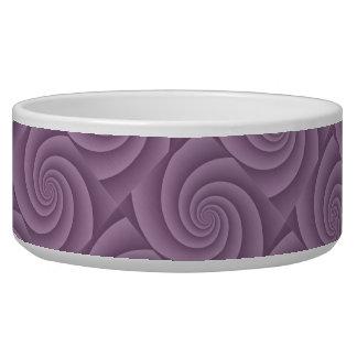 Spiral in Mauve Brushed Metal Texture Print Bowl