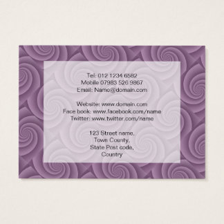 Spiral in Mauve Brushed Metal Texture Print Business Card