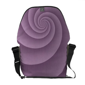 Spiral in Mauve Brushed Metal Texture Print Courier Bag