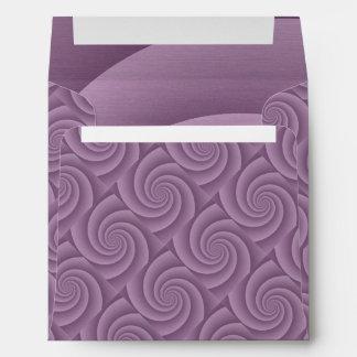 Spiral in Mauve Brushed Metal Texture Print Envelope