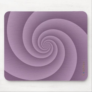 Spiral in Mauve Brushed Metal Texture Print Mouse Pad