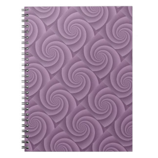 Spiral in Mauve Brushed Metal Texture Print Notebook