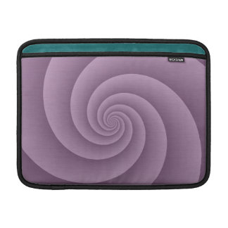 Spiral in Mauve Brushed Metal Texture Print Sleeve For MacBook Air