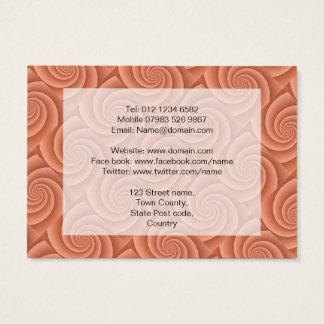Spiral in Orange Brushed Metal Texture Print Business Card