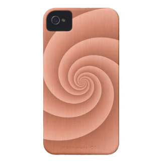 Spiral in Orange Brushed Metal Texture Print iPhone 4 Case-Mate Case
