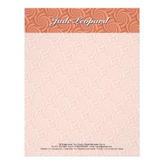 Spiral in Orange Brushed Metal Texture Print Letterhead