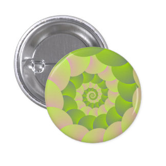 Spiral in Pink and Greens Pin
