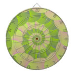 Spiral in Pink and Greens Dartboards
