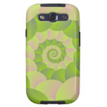 Spiral in Pink and Greens Galaxy S3 Case