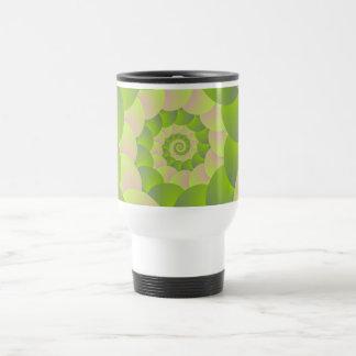 Spiral in Pink and Greens Travel Mug