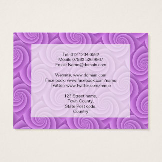 Spiral in pink Brushed Metal Texture Print Business Card