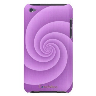 Spiral in pink Brushed Metal Texture Print Case-Mate iPod Touch Case
