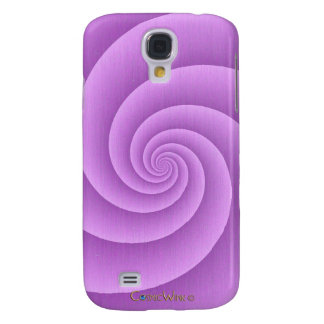 Spiral in pink Brushed Metal Texture Print Samsung S4 Case