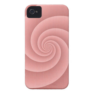 Spiral in PinkCoral Brushed Metal Texture Print Case-Mate iPhone 4 Case