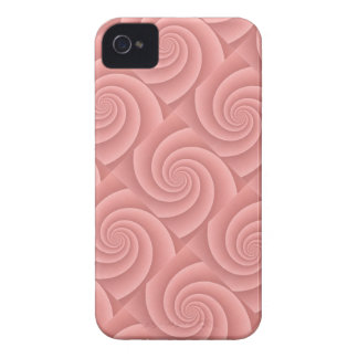 Spiral in PinkCoral Brushed Metal Texture Print iPhone 4 Case-Mate Case