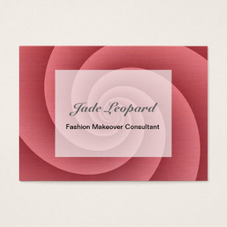 Spiral in Red Brushed Metal Texture Print Business Card