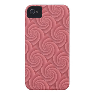 Spiral in Red Brushed Metal Texture Print iPhone 4 Case