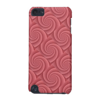 Spiral in Red Brushed Metal Texture Print iPod Touch 5G Case