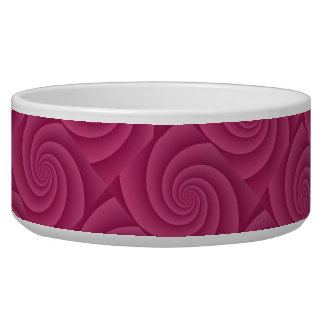 Spiral in RedWine Brushed Metal Texture Print Bowl