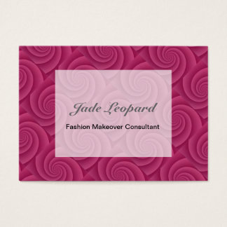 Spiral in RedWine Brushed Metal Texture Print Business Card